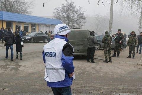 СММ ОБСЕ зафиксировала военную технику близ линии соприкосновения на Донбассе