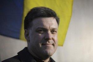 Олег Тягнибок наконец-то проголосовал