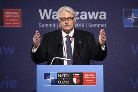НАТО ждет мира на Донбассе для принятия Украины в свой состав, - глава МИД Польши
