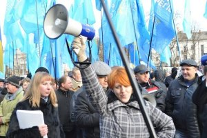 Во Львове агитаторам Партии регионов устроили газовую атаку