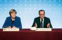 Олланд и Меркель поддерживают продление санкций против РФ