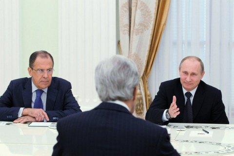 Зустріч Путіна зКеррі тривала більше трьох годин