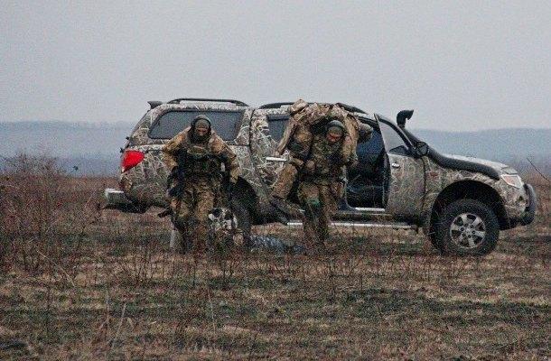 Тренировка отряда спецназначения Нацгвардии под Харьковом