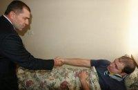 Правоохранителя, травмированного возле Рады, наградили
