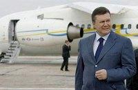 Самолет Януковича поднял тучи пыли в Ужгороде