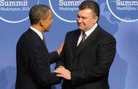 Янукович поздравил Обаму с переизбранием на пост Президента США