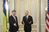 Порошенко и Байден поддержали минский формат переговоров по Донбассу