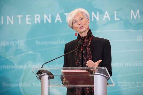 Лагард заявила про загрозу зупинки програми МВФ для України