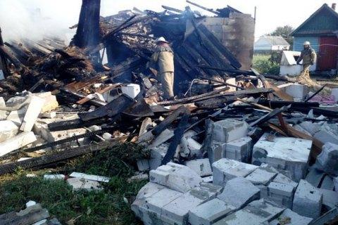 В Житомирской области из-за взрыва газа сгорел частный дом
