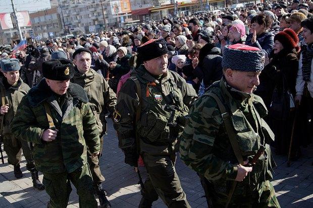 Во время празднования 23 февраля в Донецке