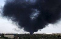 В аэропорту Донецка начался пожар