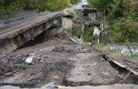 Украина восстановила еще два моста, уничтоженные боевиками