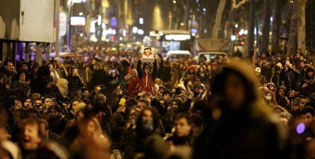Антиправительственная демонстрация в Турции