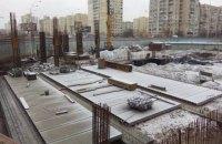 "На ""Героев Днепра"" начался монтаж стальных конструкций ТРЦ ""Оазис"""
