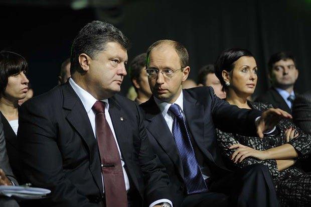 Петр Порошенко и Арсений Яценюк (фото Макса Левина)