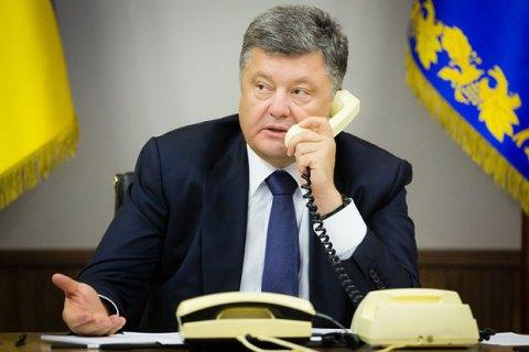 Порошенко призвал столицу Российской Федерации обеспечить перемирие вДонбассе