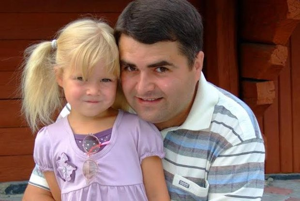 Василь Кривень з донькою