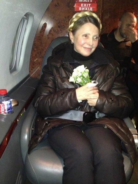 Тимошенко покинула харьковскую больницу (фото, видео)