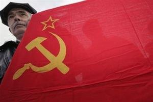 Комуністи пройшли Києвом із портретом Сталіна