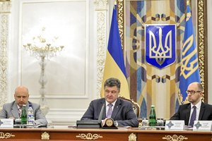 Порошенко, Яценюк и Турчинов договорились сократить сроки предвыборной гонки
