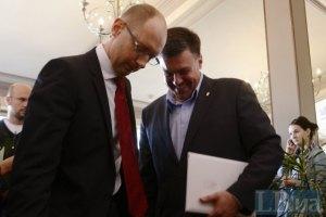 Яценюк советует Тягнибоку не вести самостоятельную игру