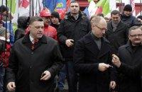 Милиция насчитала на марше оппозиции в Ровно тысячу человек