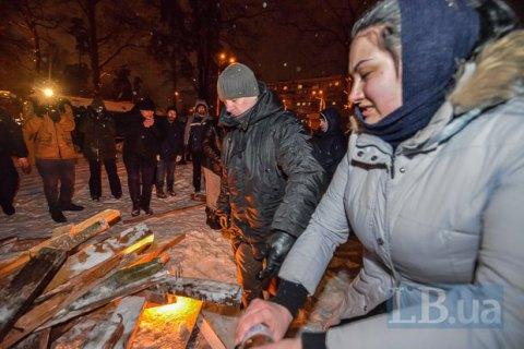 В Киеве жители выступили против незаконной застройки на Чернобыльской