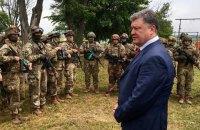 Порошенко посетил полигон десантников в Николаеве