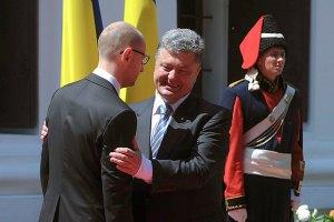 Яценюк исключает противостояние с Порошенко