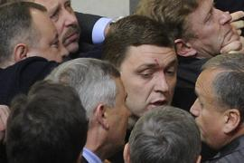 Министр финансов разбил бютовцу бровь Налоговым кодексом