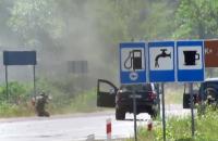 Появилось оперативное видео перестрелки в Мукачево