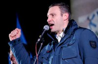 Кличко остановил спецтехнику у пикета на улице Шелковичной