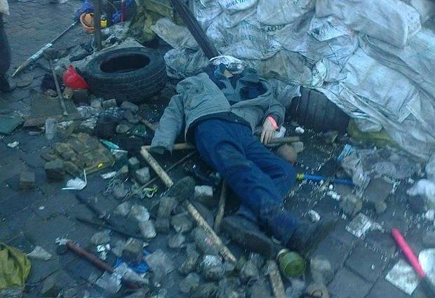 На Институтской лежат трое погибших (фото)