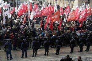 Во время митинга возле ВР задействовали тысячу милиционеров