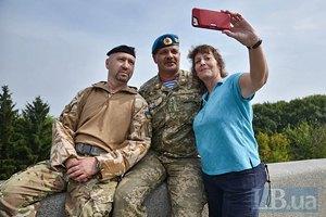 В Киеве встретили вернувшихся из зоны АТО бойцов 90-го батальона