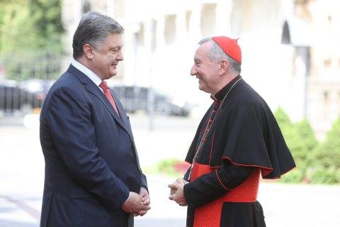 Украина рассчитывает на содействие Ватикана в освобождении пленных, - Порошенко