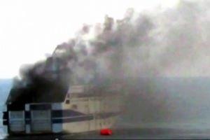 На борту загоревшегося итальянского парома находились две украинки, - МИД