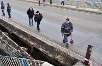 В Луганске обрушился городской мост в районе ж/д вокзала