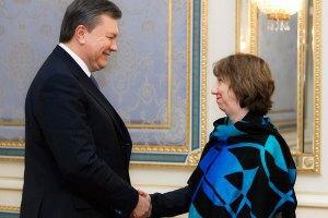 Эштон: Действия Януковича привели к самому глубокому политическому кризису в Украине