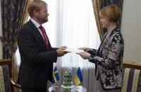 Новый посол Швеции прибыл в Украину