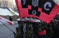 УНА-УНСО открестилась от поджога шин на Грушевского