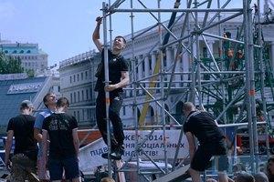 Коммунальщики демонтировали сцену на Майдане