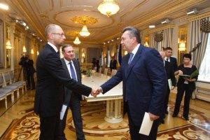 Яценюк объявил временное перемирие с Януковичем