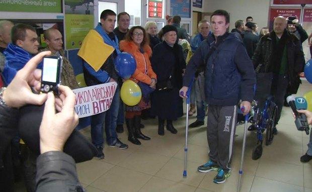 Виктора Жукова встречают в аэропорту