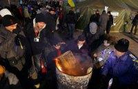 Неизвестные сожгли микроавтобус, обеспечивающий Евромайдан