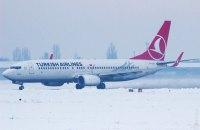Одесский аэропорт закрылся из-за снегопада