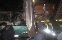 Под Львовом автобус с туристами столкнулся с грузовиком