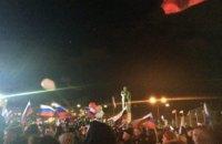 """В оккупированном Симферополе """"отпраздновали"""" аннексию с """"Любэ"""" и Чичериной"""