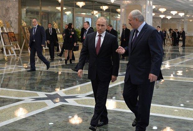 Владимир Путин и Александр Лукашенко в Минске