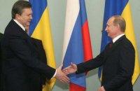 Янукович привітав Путіна з переконливою перемогою збірної Росії